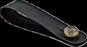 Ortega Gurtadapter schwarz für Saiteninstrumente Vegan Series