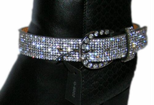 Stiefelschmuck Stiefelgürtel Stiefelriemen Nieten Strass Pumps Sandalett Armband