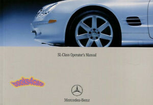 mercedes sl500 sl55 amg 2003 owners manual sl 55 amg sl 500 handbook rh ebay com 1998 mercedes sl500 service manual 1998 mercedes sl500 owners manual pdf