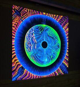 Backdrop-Dancing-Koan-Visionary-Art-UV-Psychedelic-Tapestry-Psytrance-Festival