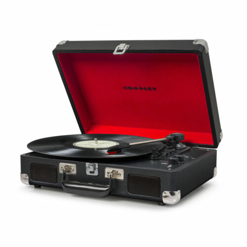 Crosley Cruiser Deluxe Portable 3 Speed Bluetooth Record Player Black CR8005D™