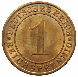 (d47) - Deutschland Weimarer Republik - 1 Reichspfennig 1924 A - Unc - Km# 37