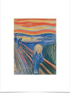EDVARD-MUNCH-THE-SCREAM-1895-LIMITED-EDITION-BIG-BORDERS-ART-PRINT-18X24-pastels
