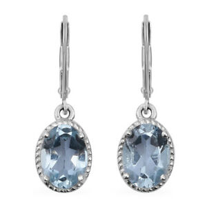 Lever-Back-Earrings-925-Sterling-Silver-Sky-Blue-Topaz-Jewelry-for-Women-Ct-2-9