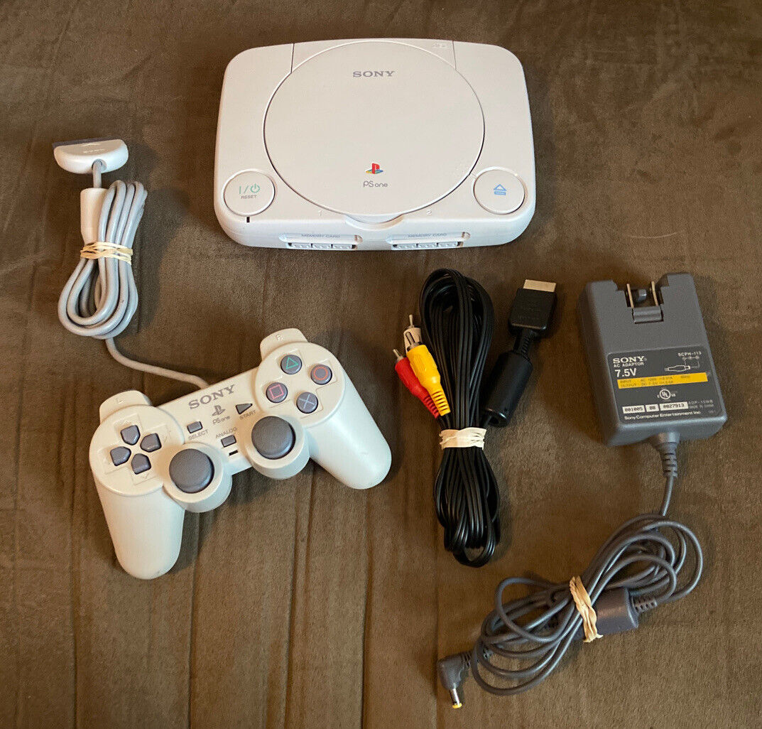 Official Sony PlayStation 1 PS1 Slim PSone Console Complete w Controller! ~ LQQK on eBay thumbnail