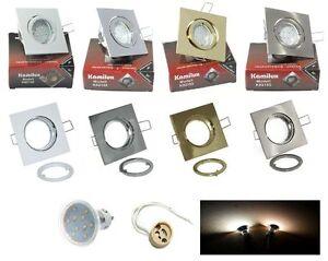 LED-Faretti-da-incasso-Louis-acciaio-inox-NATO-GU10-10-SMD-Power-Led-3W-25W-230V