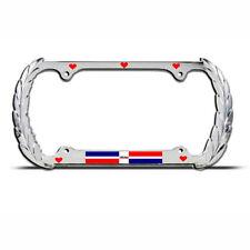HEART DOMINICAN REPUBLIC FLAG KING License Plate Frame AUTO SUV Tag Border