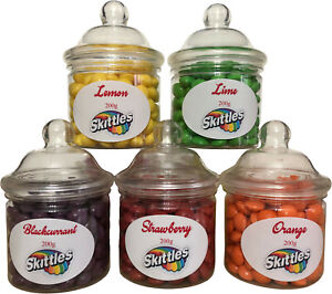 Sweet Shop - Skittles Favourite Flavour Gift Jars - 200g - Great Gift Idea