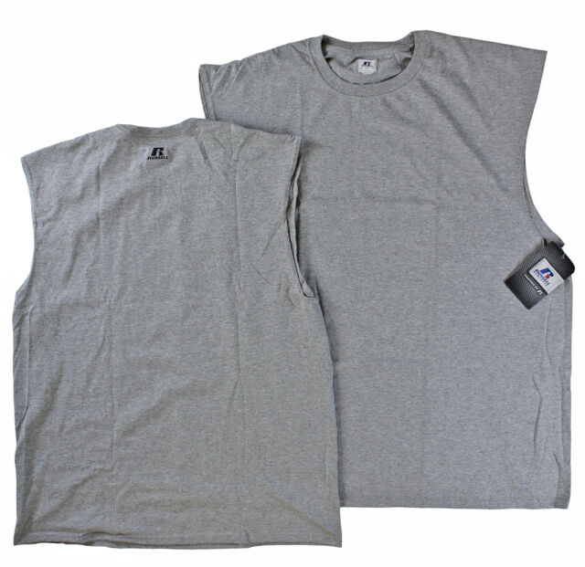 Russell Athletic Big Men 100% Cotton Sleeveless Muscle T Shirt Oxford 4XL