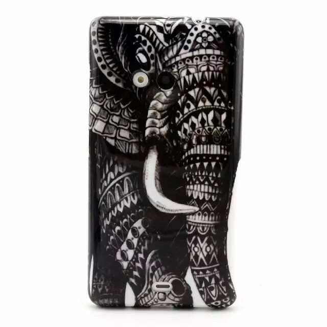 Ultra Thin Soft Retro Pattern Silicone TPU Back Case Cover For Various CellPhone