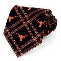 Texas Longhorns Mens Necktie University College Logo Alumni Black Neck Tie