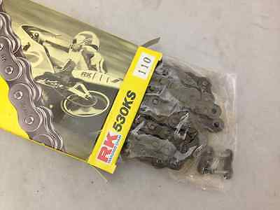 RK Racing Chain GB420MXZ-124 Gold 124-Links Heavy Duty Chain with Connecting Link
