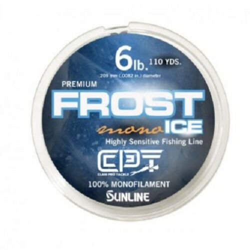 6 LB Test Clam FROST ICE Monofilament Metered Ice Fishing Line Orange Clear