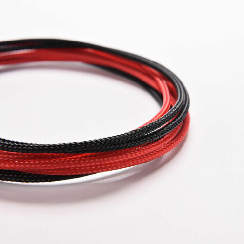 8Pin 30cm ATX Board PSU Power Supply Extension Cable Wire Black Red Sleeve RS
