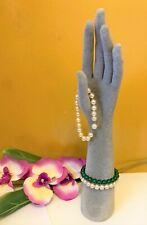 Jewelry Display Holder Organizer Gray Felt Hand With Arm Mannequin 13 H