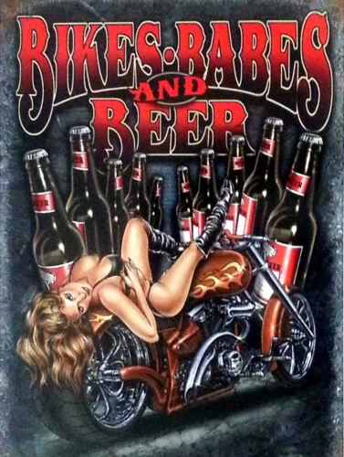 Vélos Babes Et bière rétro en métal aluminium SIGNE VINTAGE//man cave//garage