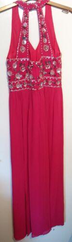 con impreziosito schienale Molto rosa 12 Monsoon senza Camillia Dress Maxi gemme HqzpIX
