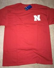 "Nebraska Cornhuskers NCAA Majestic /""Football Icon/"" Men/'s Red T-Shirt"