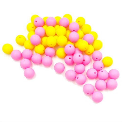 10xBaby Teether Beads DIY Wooden Rings Crochet Set Nursing Teething G