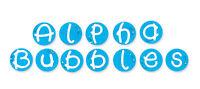 Sizzix 654880 Sizzlits Alphabet Set, 35 Dies, Alpha Bubbles by Emily Humble (841182011954) Craft Supplies