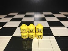 Lego Female Girl Woman Minifigure Head X6 Joblot / Bulk / Spare Parts