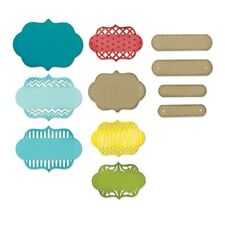 Sizzix Thinlits ORNATE LABELS 12 Piece Set 659711