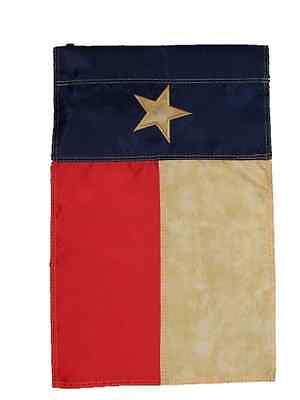 12x18 Bestickt Texas Tea Buntglas Vintage Nylon Hülsen Garten Flagge