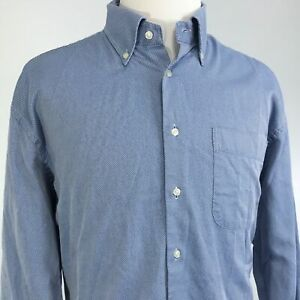 PETER-MILLAR-LONG-SLEEVE-BLUE-BUTTON-DOWN-COTTON-SHIRT-MENS-SIZE-XL
