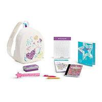American Girl Truly Me Doodle Backpack Set For 18 Dolls School Ruler