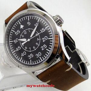 42mm-corgeut-black-dial-luminous-sapphire-glass-Mechanical-automatic-mens-watch