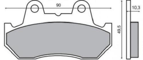 pastiglie freno ANTERIORE HONDA VF 500 FE F2E 1984/> RMS 225100330