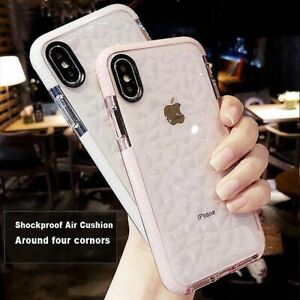 Diamond-Clear-Case-For-iPhone-X-7-8-XS-Max-XR-Shockproof-Soft-Silicone-Gel-Cover