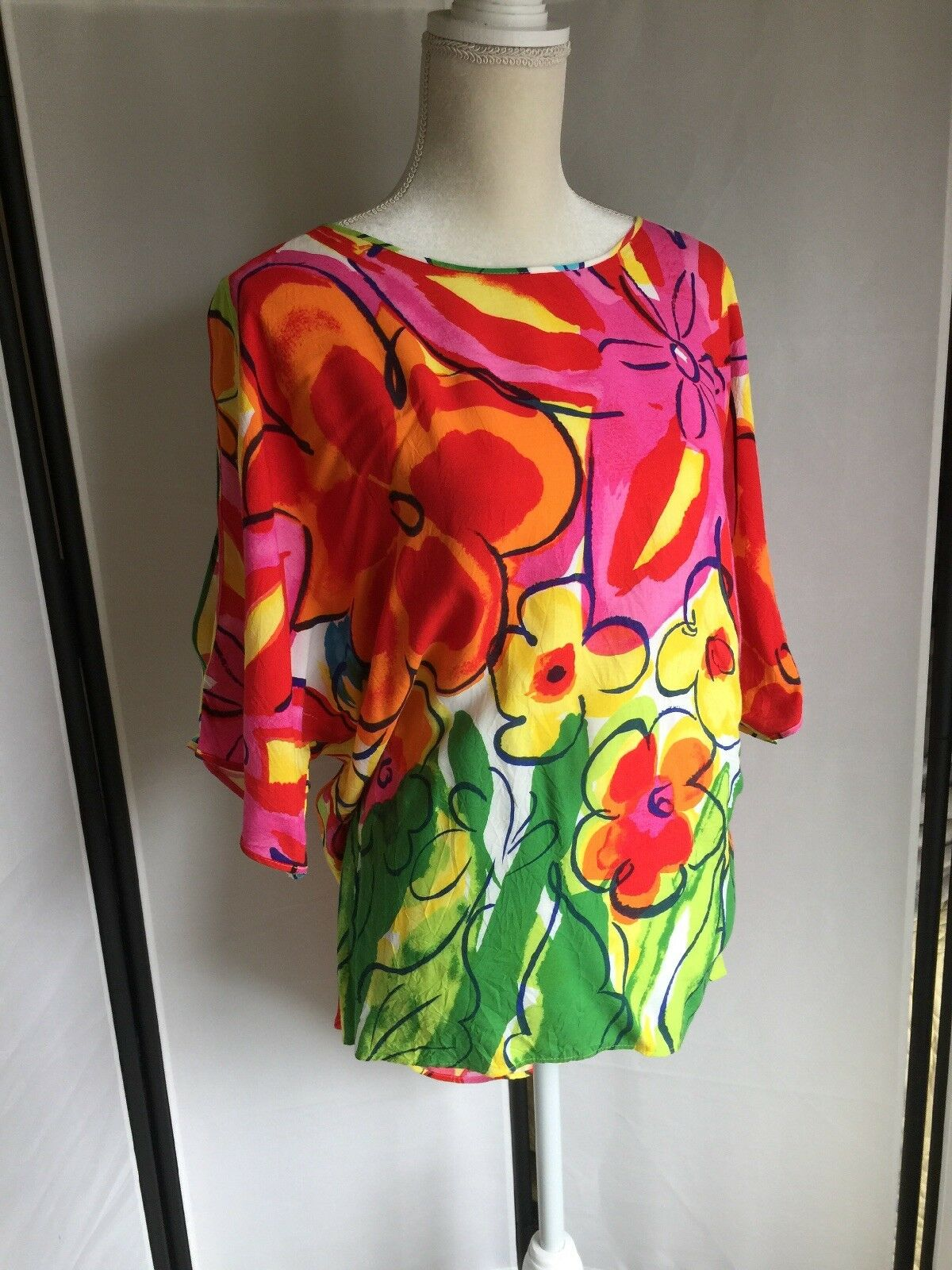 JAMS WORLD, 50 YEARS,damen Blouse,Cold Shoulder,Größe Small, Floral, WaterFarbe