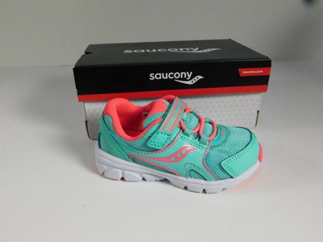 6df88eda Saucony Shoes Girls 6 W Baby Vortex Turquoise Pink No Tie Slip Ons