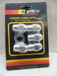 Gasket Lug Nuts Mr Gasket 1441 Mr 1//2 Inch Chrome Plated