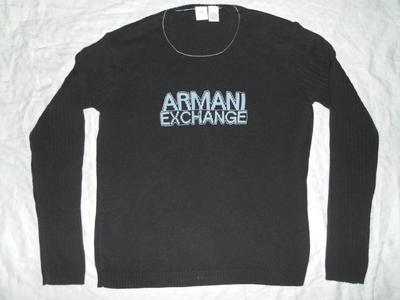 ARMANI EXCHANGE A X EMBROIDERED POLO RUGBY SHIRT SIZE LARGE  EXQUISITE QUALITY