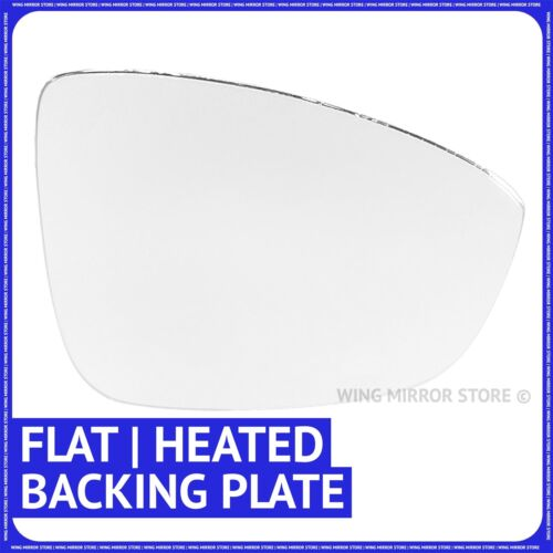 Right driver side for VW Passat CC 2008-14 Flat heated wing mirror glass plate