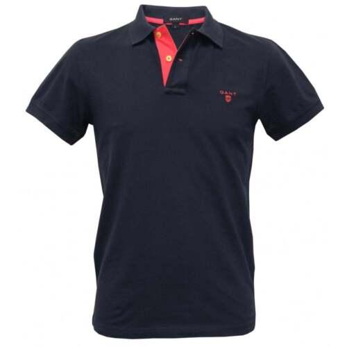 Gant Polo Shirt Pique Contrast pink Navy Men's Rugger Collar rH6r1wBnAq