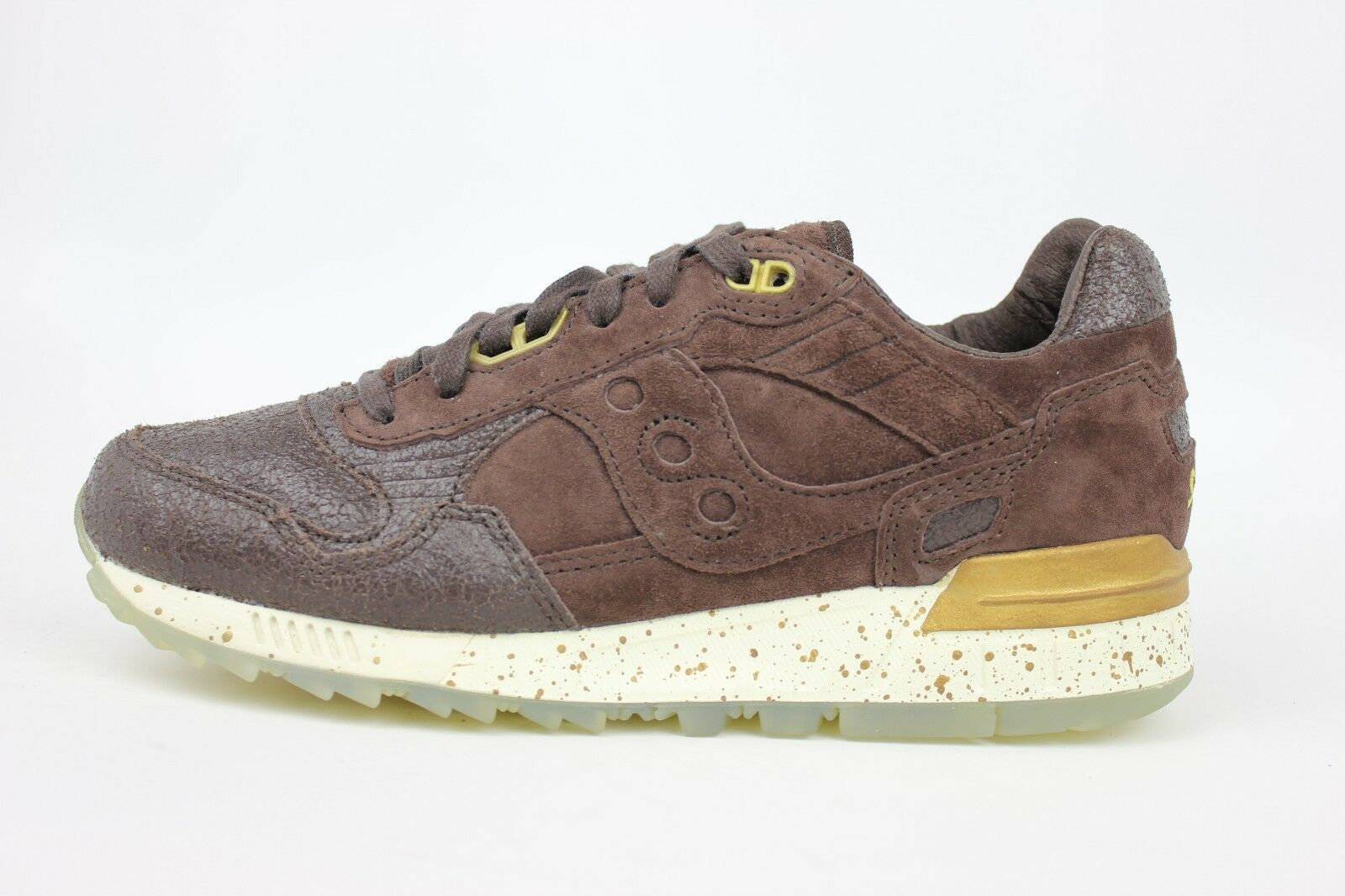 SAUCONY SHADOW 5000 BROWN CHOCOLATE OFF WHITE GOLD BROWN MENS SNEAKERS S70311-2