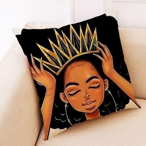 African Girl Women Print Throw Pillow Case Cushion Covers Pillowcase Sofa Decor