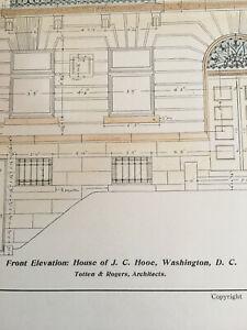Genuine Medela J C Hooe House, Washington DC, 1904, Totten