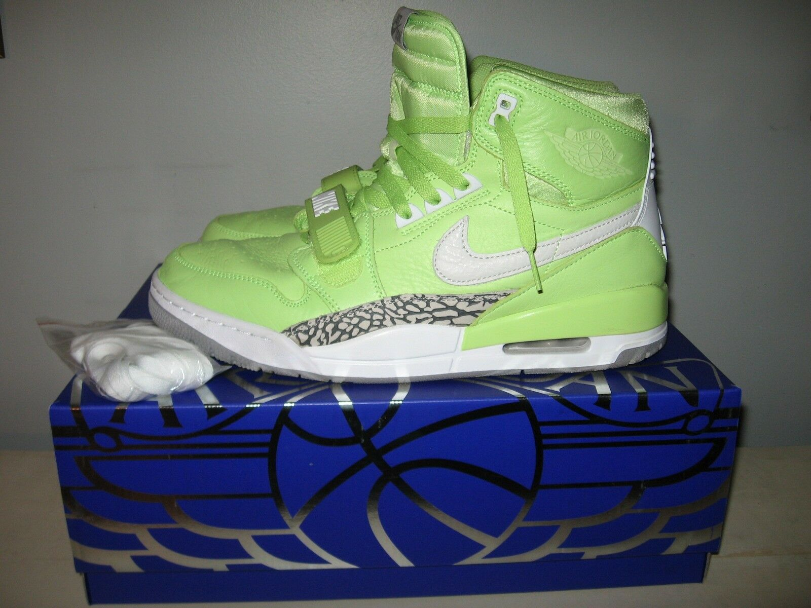 Nike AIR JORDAN LEGACY 312 NRG Size 12 Ghost Green  White Cement Just Don w  Box