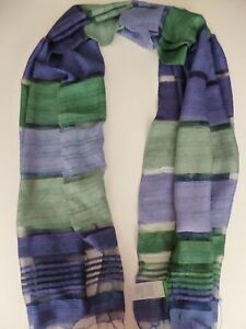 48f2a60b3c50 United Colors of Benetton ladies scarf blue   green striped NEW ...