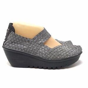 Bernie Mev Shoes Size 39 9 Silver Gray