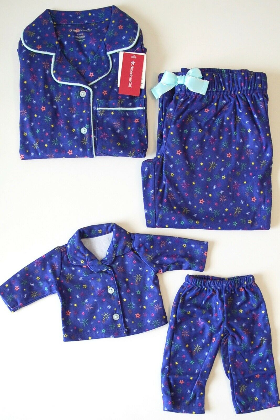 American Girl Holiday Dreams Pajamas Women/'s Size S 4//6  Red Plaid Snowflake NEW
