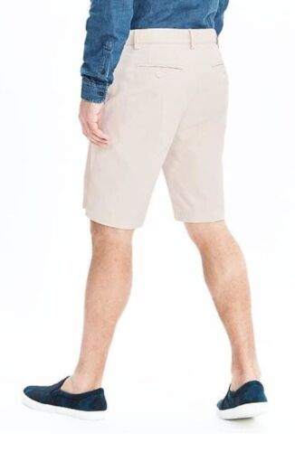 """NWT Banana Republic Emerson Straight Solid 11/"""" Country Beige Shorts Sz 32"""