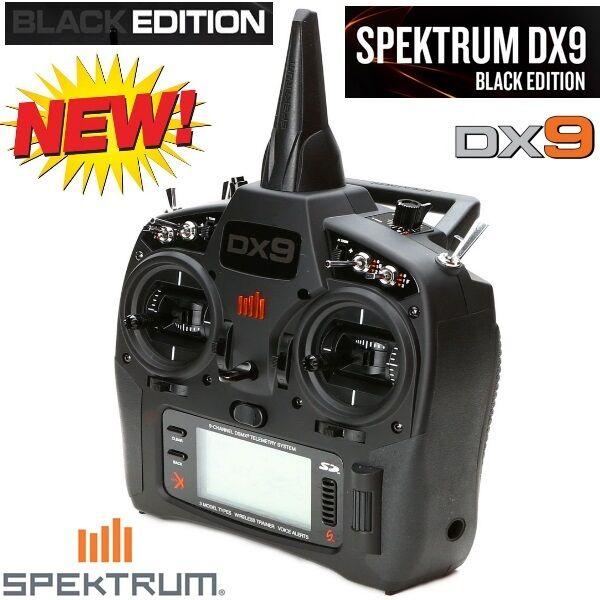 Spektrum SPMR9910 DX9 Negro Edición 9-Channel Dsmx Transmisor Solo Modo 2