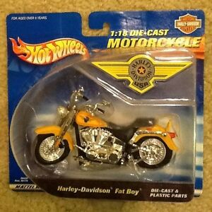 Mattel Hot Wheels Harley Davidson Fatboy Die Cast Plastic 1 18 Motorcycle 26676881705 Ebay