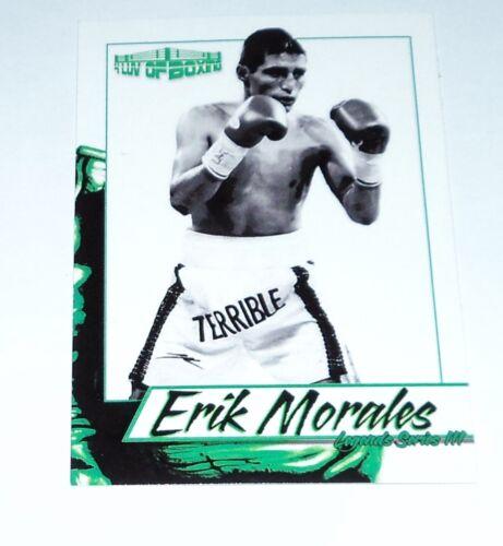 Erik Morales 2018 4LUVofBOXING Legends Series 3 Boxing Card New El Terrible