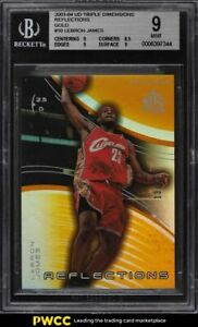 2003-Upper-Deck-Triple-Dimensions-Reflections-Gold-LeBron-James-ROOKIE-50-BGS-9